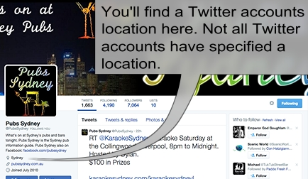 Twitter profile location